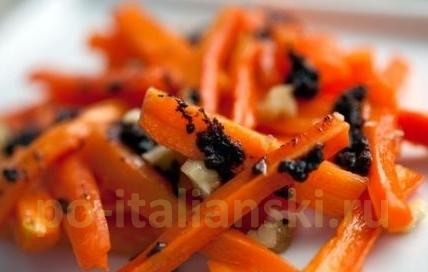 Праздничный гарнир из моркови