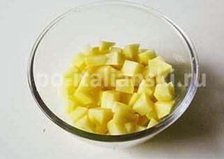 Крем-суп из картофеля и цукини