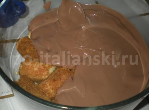 Тирамису с горьким шоколадом