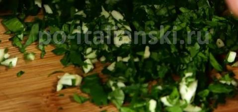 Паста с фасолью и мидиями