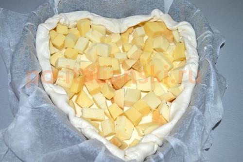 Торт с сыром и грибами