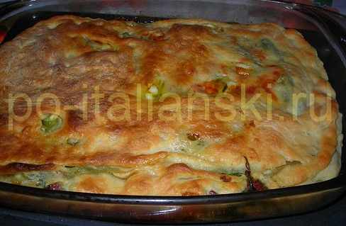 Пицца с зеленью